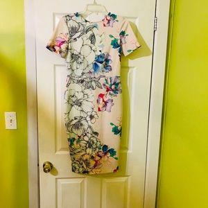 ASOS body-con flowered dress